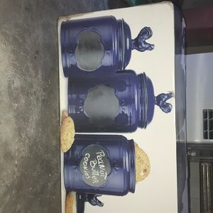 Home Essentials set of 3 Ceramic Canisters
